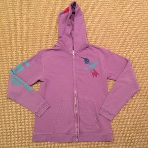 Free City Purple Zip Front Hoodie 2 Medium